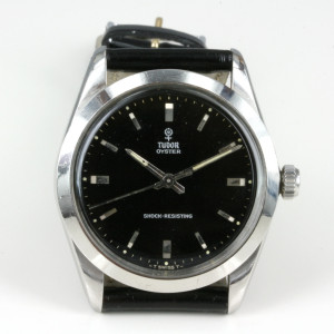 Black dial Tudor watch