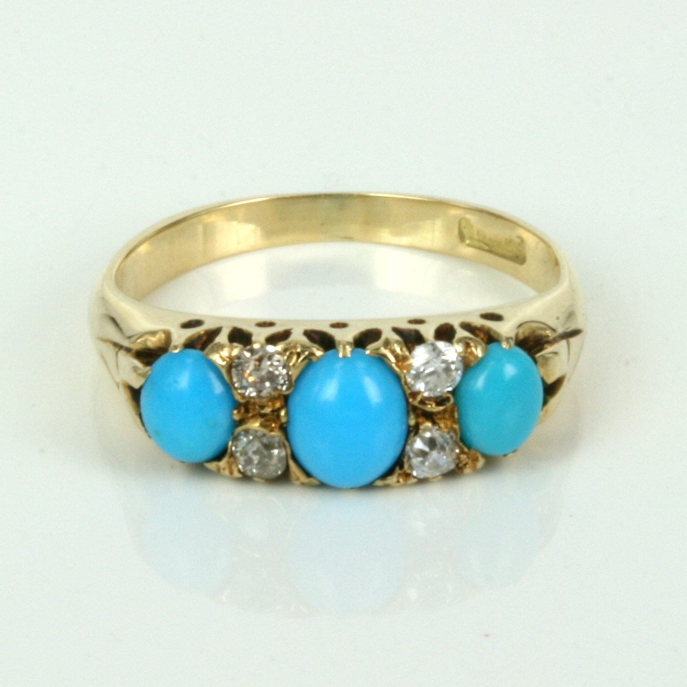 Antique Turquoise And Gold Rings