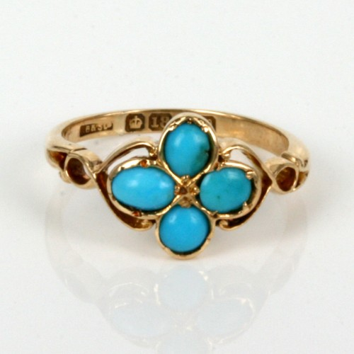 Antique turquoise ring from the Art Nouveau era