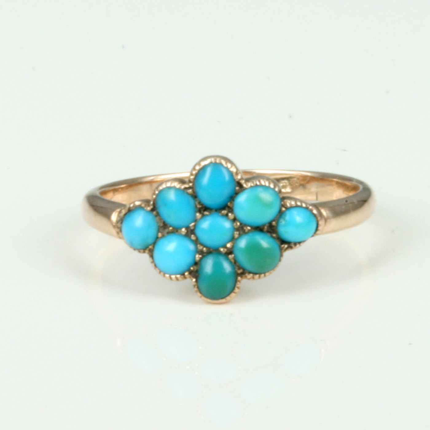 gold joes ring round turquoise rings yellow smokin jewelry
