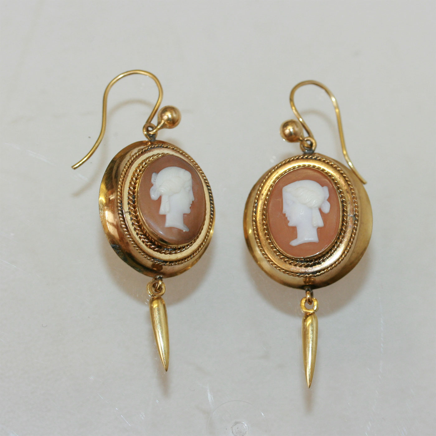 Buy A Harp >> Buy Antique Victorian cameo earrings. Sold Items, Sold ...