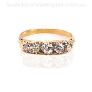 Victorian diamond engagement ring Sydney