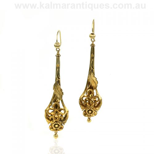 Antique Victorian drop earrings