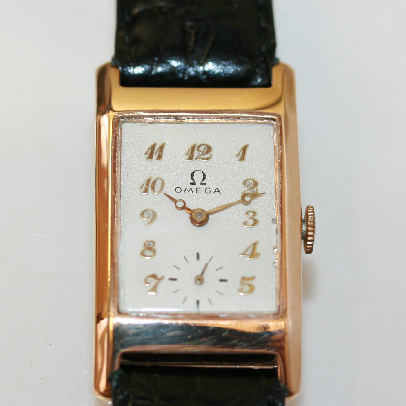 Buy vintage rectangle omega watch sold items sold omega watches sydney kalmarantiques for Omega watch vintage