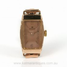Vintage Rolex watch from 1930 in rose gold