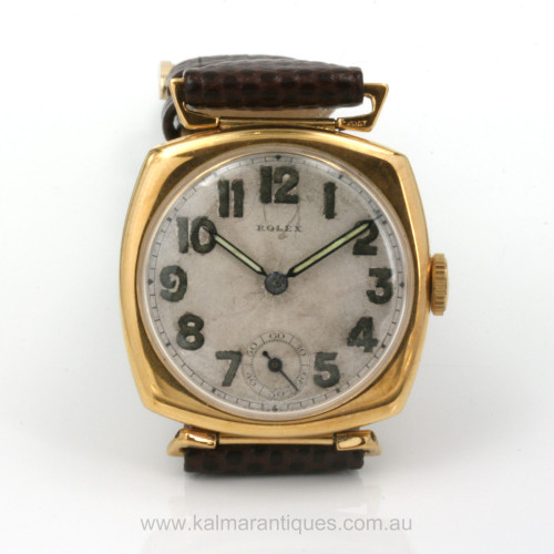 Vintage Rolex watch with 13 ligne movement.