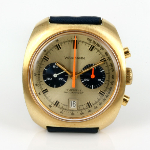 Vintage Wakmann chronograph watch.