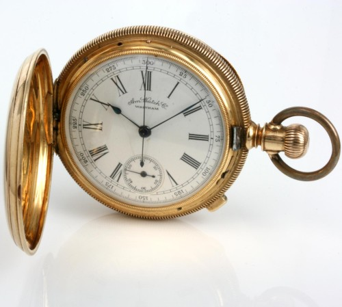 18ct Waltham Chronograph pocket watch from 1886