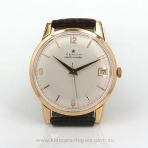 1972 vintage 18ct Zenith watch